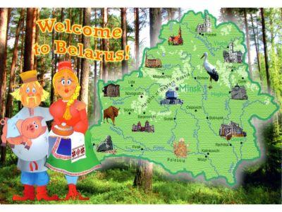 Mappa Bielorussia
